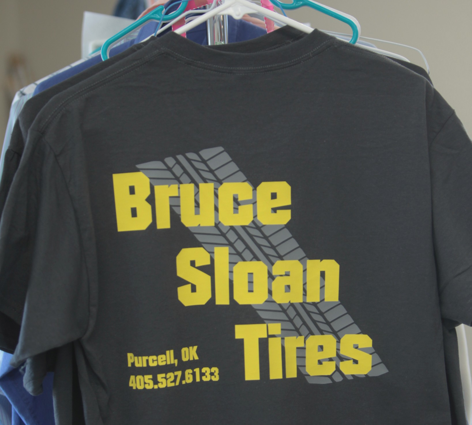 We made these shirts for the best tire shop on I-35 in south Oklahoma.