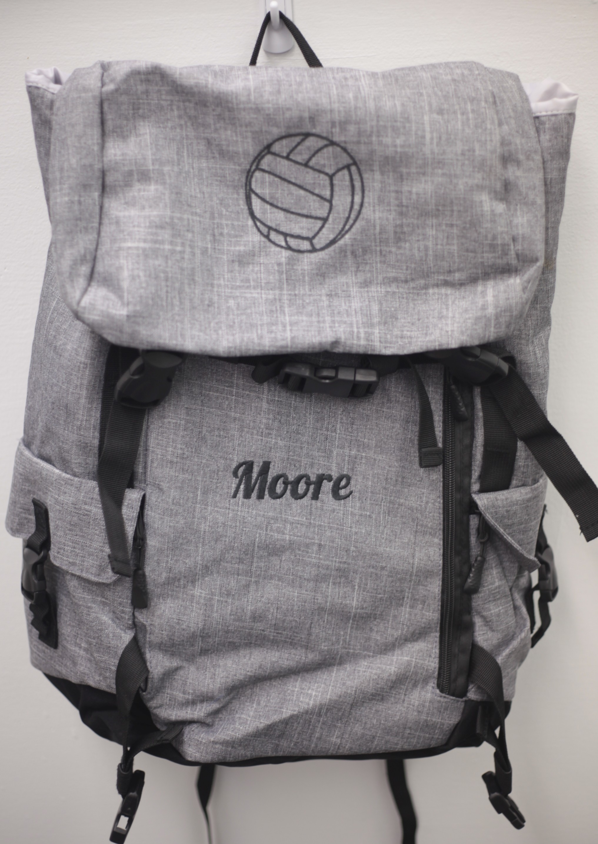 We can embroider backpacks with names and designs