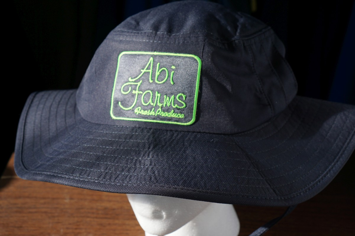 Custom Embroidery on a wide brim hat